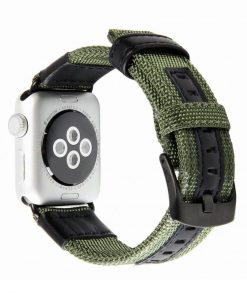 Armégrön Kanvasarmband till Apple Watch 2