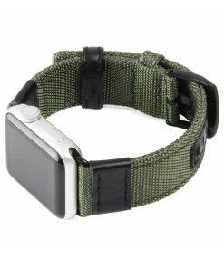 Armégrön Kanvasarmband till Apple Watch 4