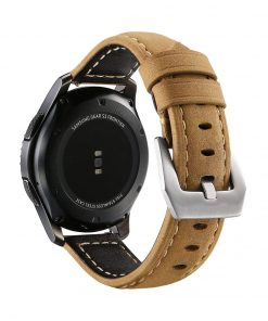 Robust Läderarmband till Samsung Galaxy Watch 46mm & Gear S3 Brun