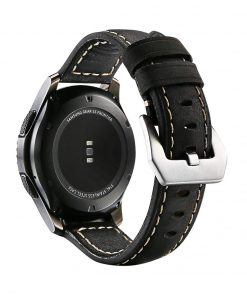 Robust Läderarmband till Samsung Galaxy Watch 46mm & Gear S3 Svart 2