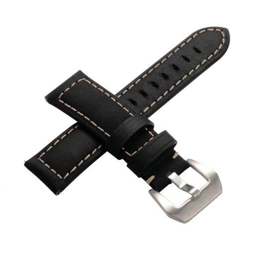 Robust Läderarmband till Samsung Galaxy Watch 46mm & Gear S3 Svart 3