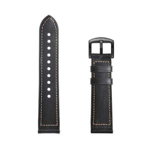 Läderarmband Hybrid till Galaxy Watch 46mm - Svart