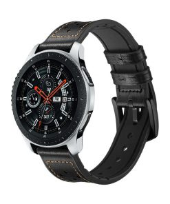 Läderarmband Race till Galaxy Watch 46mm - Svart
