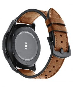 Läderarmband Racing till Galaxy Watch 46mm - Brun