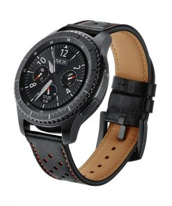 Läderarmband Racing till Galaxy Watch 46mm - Svart