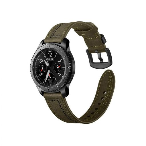 Läderarmband Vintage Green till Samsung Galaxy Watch 46mm