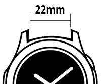 Klockarmband - 22mm